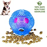 IQ Treat Ball Food Dispensing Toys Cleans Teeth Interactive Dog Toy for Small