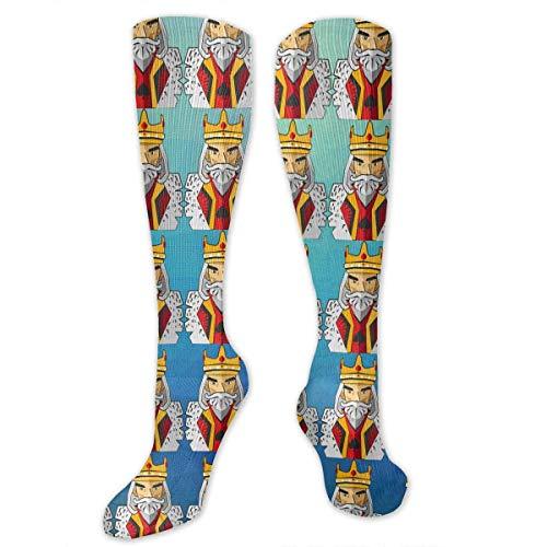 Jxrodekz Knee High Socks Poker Compression Socks Sports Athletic Socks Tube Strümpfe Long Socks Funny Personalized Gift Socks for Women Teens Girls
