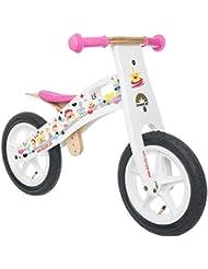 BIKESTAR® Original Premium Kinderlaufrad für modebewusste Prinzessinnen ab 3 Jahren ★ 12er Natur Holz Edition ★ Traumhaft Weiß