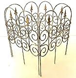 Beeteinfassung BeetZaun Rasenkante Zaun Barcelona rost 65 x 81 cm Rost 4-er Set