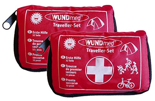 2 Stück Wundmed Erste Hilfe Set 32-teilig in praktische Etui mit Gürtelschlaufe