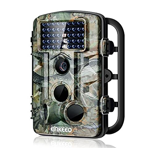 Enkeeo Wildlife Trail Game Hunting Camera Infrared Night Vision Motion Activated Time Lapse 2.4