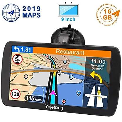 Yojetsing-GPS-Navi-Navigation-fr-Auto-LKW-PKW-9-Zoll-16GB-Lebenslang-Kostenloses-Kartenupdate-Navigationsgert-mit-POI-Blitzerwarnung-Sprachfhrung-Fahrspurassistent-2019-Europa-UK-52-Karten