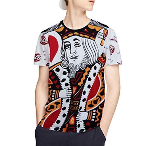 Zxl-yf Camiseta publicitaria de la Marca Tide Camiseta Digital Creativa impresión en 3D de los Hombres Naipes de Manga Corta de los Hombres (Tamaño : XL)