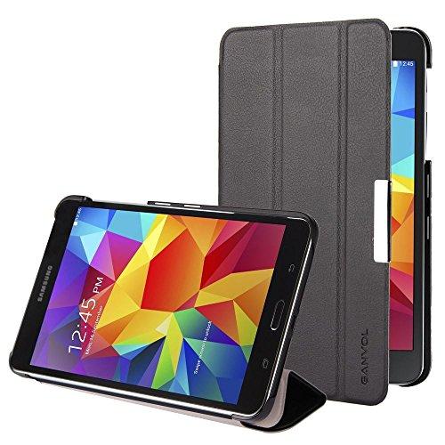 Ganvol Samsung Galaxy Tab 4 17,8 cm (7 Zoll) T230 / T231 / T235 Ledertasche Hülle Leder Schutzhülle, PREMIUM PU Leder Case, mit Standfunktion und Automatischem Schlaf Funktion