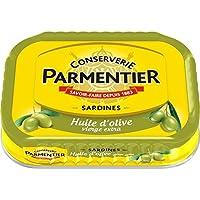 Parmentier Sardines huile d'olive vierge extra La boite de 135g - Prix Unitaire - Livraison Gratuit Sous 3 Jours