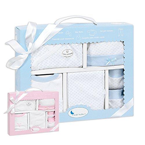 *** EINFÜHRUNGSANGEBOT*** Baby Erstausstattung für Neugeborene Junge Set ❤100% Baumwolle ❤ Größe 50/56 0-3 Monate Erstlings-Ausstattung Kleidung Baby-Geschenke Geburt Babykleidung Starter Box Paket (Günstige Damen Strampelanzug)