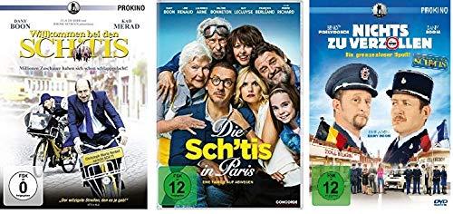 Dany Boon DVD Fan-Set: Willkommen bei den Sch´tis / Die Sch´tis in Paris / Nichts zu verzollen - Deutsche Originalware [3 DVDs]