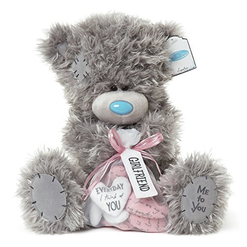 Me To You SG01W4107 12-Inch Tall Tatty Teddy Signature Collection Girlfriend Bear Holding Bag of Assorted Love Hearts Sits Plush Toy (Large)