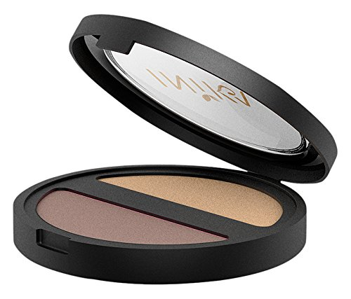 INIKA Pressed Mineral Eye Shadow Duo, Gold Oyster