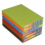 Zhi jin A5spessore colorato laterale del taccuino con copertina rigida Notepad diario a portafoglio per viaggio scuola ufficio Blue