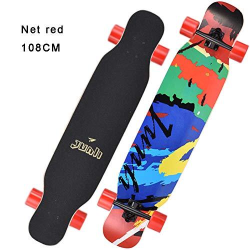 Cruiser Skateboard Retro Komplettboard Cruiser-board Mit Für Erwachsene Kinder Jungen Mädchen Für Anfänger Und Profis Ahornholz Skateboard -