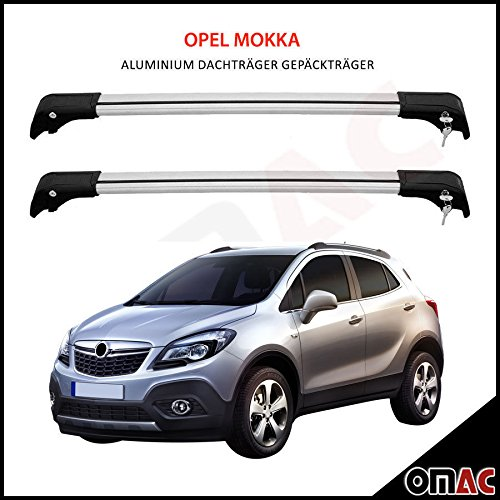 Opel Mokka ab 2012 Alu Dachträger Gepäckträger Grau Wing Carrier Schlüssel V2