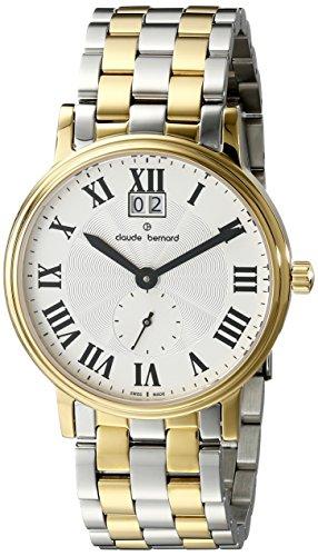 Claude Bernard Men's 64011 357J AR Classic Gents Analog Display Swiss Quartz Two Tone Watch