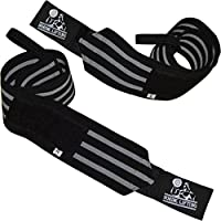 """Wrist Wraps Super Heavy Duty (1 Pair/2 Wraps) 24"""" for Weight Lifting   Powerlifting   Strongman   Gym   Crossfit   Cross Training   Bodybuilding Workouts With Thumb Loop - Support For Women & Men - Premium Quality Equipment & Accessories From Nordic Lifting™ - Use Gloves, Hooks & Straps to Avoid Injury During Weightlifting - 1 Year Warranty"""