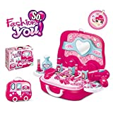 #6: Toy4Pick Branded Children Beauty Makeup Kit Pretend Play Cosmetic Set Toy Kids Role Games Tools Accessories Portable Suitcase (17in1)