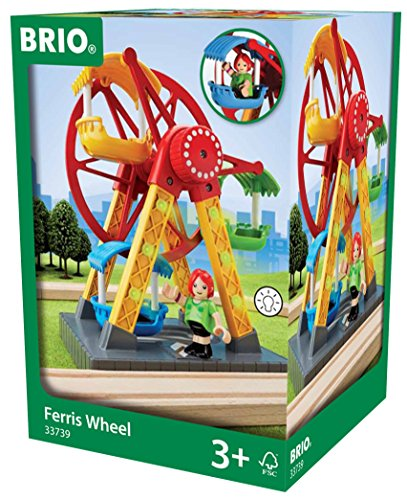 BRIO World 33739 - Riesenrad mit Blinklicht -