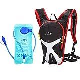 West Biking Outdoor Sport Radfahren Mini Fahrrad Rucksack Bike Rucksack Tasche Wandern Daypacks + 2L BPA-frei & FDA Wasser Tasche Trinkblase