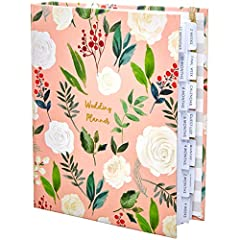 Idea Regalo - Lusso UK wedding planner Book | Beautiful souvenir regalo di fidanzamento perfetto per coppie | Ideale per souvenir Millennial Pink