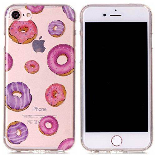 Voguecase® für Apple iPhone 7 4.7 hülle, Schutzhülle / Case / Cover / Hülle / TPU Gel Skin (macaron 03) + Gratis Universal Eingabestift Donuts 03