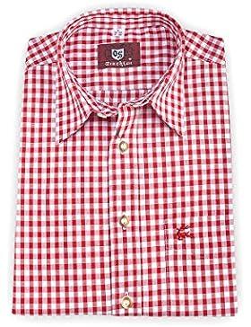 OS-Trachten Herren Trachtenhemd kurzarm rot karo 111735