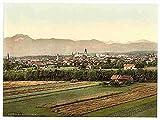 Photo Rosenheim general view Upper Bavaria A4 10x8 Poster