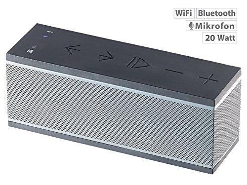 auvisio WiFi Lautsprecher: WLAN-Multiroom-Lautsprecher mit Bluetooth & Mikrofon, 10 Watt RMS (Bluetooth-Lautsprecher für Multiroom mit WiFi und Airplay)