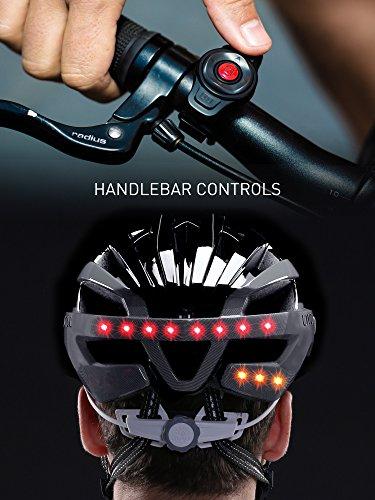 Livall Fahrradhelm MT1 mit Rücklicht, Blinker und SOS-System (schwarz/anthrazit) - 5