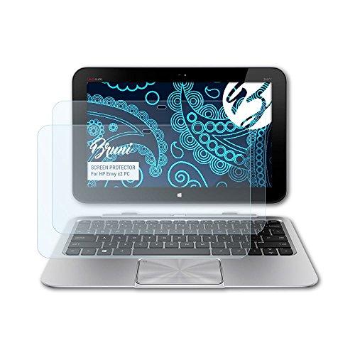 Bruni Schutzfolie kompatibel mit HP Envy x2 PC Folie, glasklare Bildschirmschutzfolie (2X)