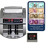 SToK Note Counting Machine with Fake Currency Detector - Silver
