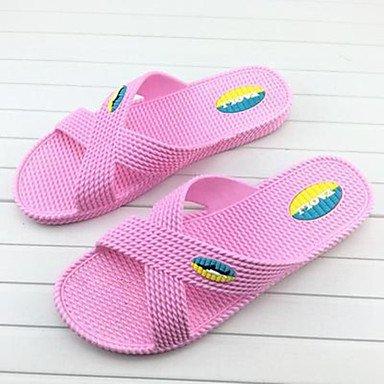 Stivali inverno delle donnecasuali zeppa piuma Heel PU sandali US5.5-6 / EU37 / UK4.5-5 / CN37