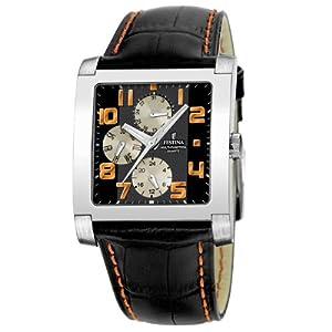 FESTINA F16235/9 - Reloj unisex de cuarzo, correa de piel color negro de Festina
