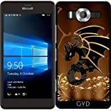 SilikonHülle für Microsoft Lumia 950 - Drache In Gold Und