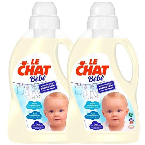 Le Chat Bebe Lessive Liquide 50 Lavages 1 5 L Carton De 2