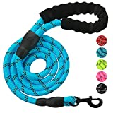 Roblue Hunde Leinen Blau Nylon rund Hundeleine für Mittel oder Große hunde passend zu Halsband oder Geschirr