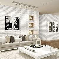 Papel Pintado Blanco, Patrón Convexo Cóncavo Tridimensional Del Ladrillo Que Hace Espuma, Tienda De Ropa De Interior, Bloque Del Estudio, Papel Pintado Del Proyecto Del PVC