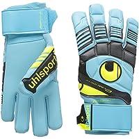 uhlsport Goalkeeper Gloves Eliminator Soft HN Comp Multi-Coloured Eisblau/Schwarz/Fluo Gelb