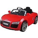 Audi R8 Spyder Roadster Kinderauto Kinderfahrzeug Elektroauto Offroad 12V Fernbedienung Neu (rot)