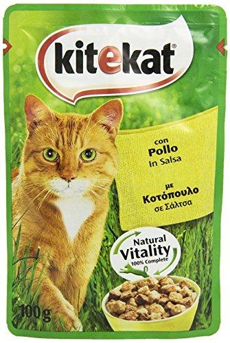 Kitekat, Alimento per Gatti Adulti con Pollo in Salsa