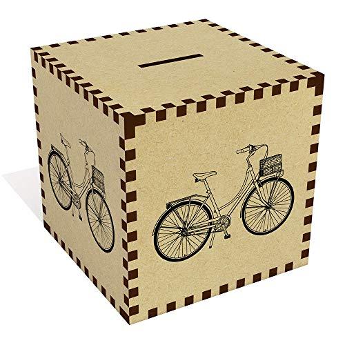 Azeeda Grande 'Bicicleta Vintage' Caja de Dinero / Hucha (MB00073194)