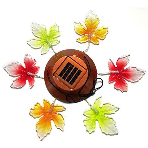 Windspiel mit Farbwechsel, solarbetrieben, bunt, hängende Windglocke, wasserdicht, für Partys, Garten, Terrasse, Zuhause, Party, Dekoration Free Size maple