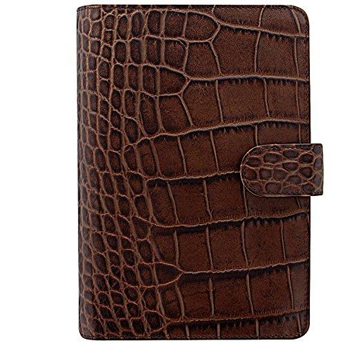 Filofax 26016 Organizer Croc Personal Classic, chestnut