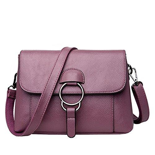 LAIDAYE Sacchetto Di Spalla Del Sacchetto Di Spalla Delle Borse Di Modo Delle Signore Casuali Di Modo Opzionalmente Purple