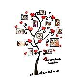 Uioy Árbol de Amor Creativo 3D Foto Etiqueta de la Pared Dormitorio TV Fondo Pared (Color : C, Tamaño : Medio)
