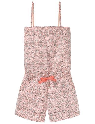 Schiesser Mädchen Zweiteiliger Schlafanzug Jumpsuit Kurz, Rot (Sorbet 524), 164 (Herstellergröße M)