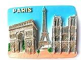 Clásica París Francia famosa ciudad turística recuerdo regalo hogar y cocina 3d Polyresin Frigerator imán