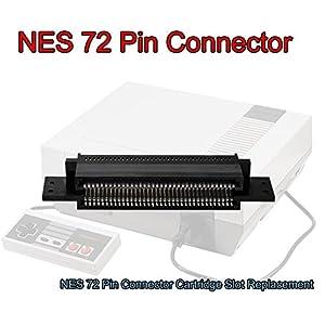 GOZAR 72 Pin Ersatz Anschluss Patrone Slot Für 8 Bit Nintendo Nes Entertainment-System