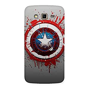 Enticing Blood Red Round Back Case Cover for Samsung Galaxy Grand 2