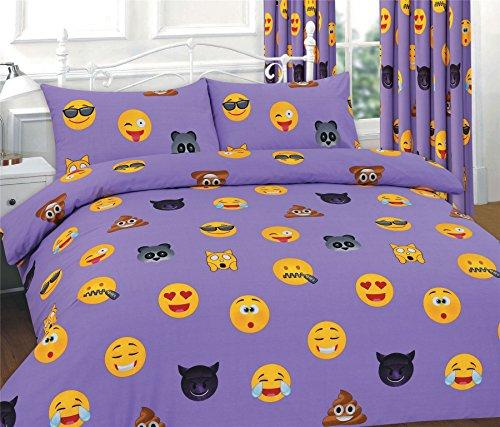 Emoji con diseño de funda de edredón juego de cama con funda...