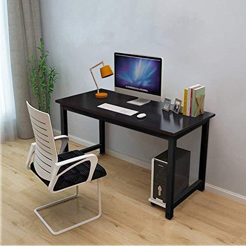 Dripex Schreibtisch Computertisch, PC-Tisch für Bürotisch Arbeitstisch Officetisch Stabile Konstruktion Tisch (120cm Schwarz-Schwarz)